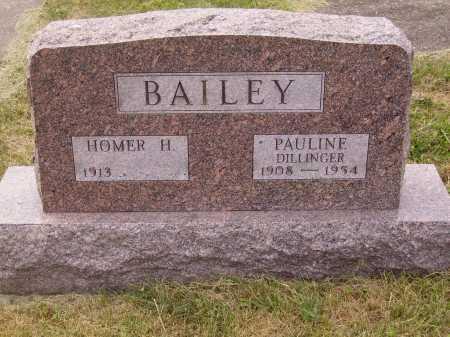 BAILEY, HOMER H. - Meigs County, Ohio | HOMER H. BAILEY - Ohio Gravestone Photos