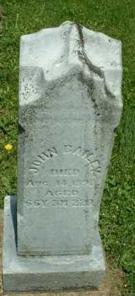 BAILEY, JOHN - Meigs County, Ohio | JOHN BAILEY - Ohio Gravestone Photos