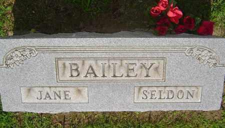BAILEY, JANE ELIZABETH - Meigs County, Ohio | JANE ELIZABETH BAILEY - Ohio Gravestone Photos