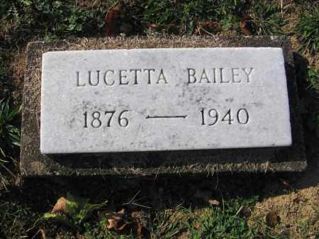 BAILEY, LUCETTA - Meigs County, Ohio   LUCETTA BAILEY - Ohio Gravestone Photos