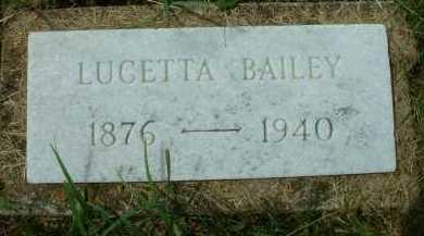 BAILEY, LUCETTA - Meigs County, Ohio | LUCETTA BAILEY - Ohio Gravestone Photos