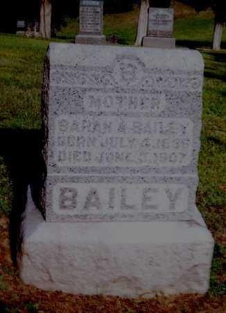 BAILEY, SARAH A. - Meigs County, Ohio | SARAH A. BAILEY - Ohio Gravestone Photos