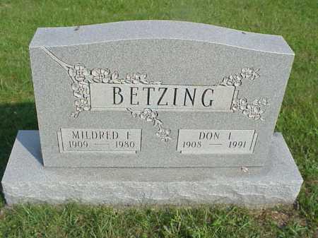 BETZING, MILDRED F. - Meigs County, Ohio | MILDRED F. BETZING - Ohio Gravestone Photos