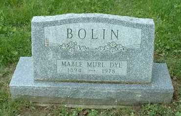 DYE BOLIN, MABLE MURL - Meigs County, Ohio   MABLE MURL DYE BOLIN - Ohio Gravestone Photos