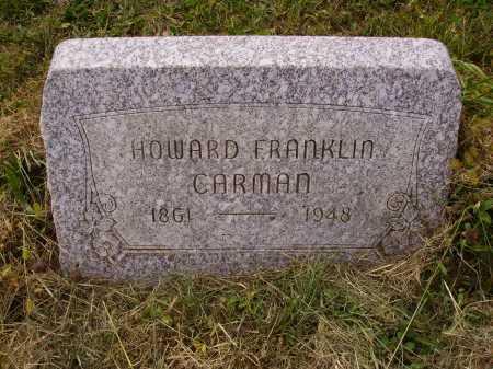 CARMAN, HOWARD FRANKLIN - Meigs County, Ohio | HOWARD FRANKLIN CARMAN - Ohio Gravestone Photos
