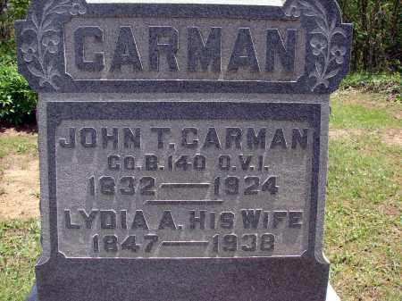 CARMAN, LYDIA A - Meigs County, Ohio   LYDIA A CARMAN - Ohio Gravestone Photos