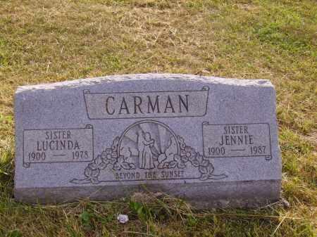 CARMAN, JENNIE - Meigs County, Ohio   JENNIE CARMAN - Ohio Gravestone Photos