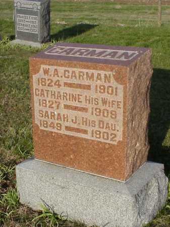CARMAN, W. A. - Meigs County, Ohio | W. A. CARMAN - Ohio Gravestone Photos
