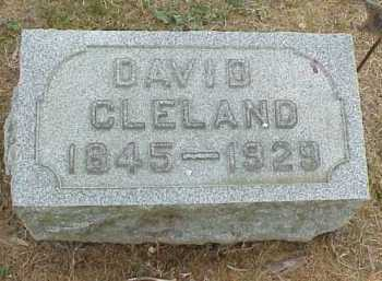 CLELAND, DAVID - Meigs County, Ohio | DAVID CLELAND - Ohio Gravestone Photos