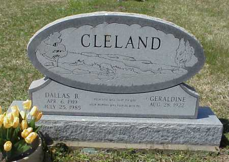 CLELAND, DALLAS B. - Meigs County, Ohio | DALLAS B. CLELAND - Ohio Gravestone Photos