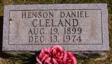 CLELAND, HENSON DANIEL - Meigs County, Ohio | HENSON DANIEL CLELAND - Ohio Gravestone Photos
