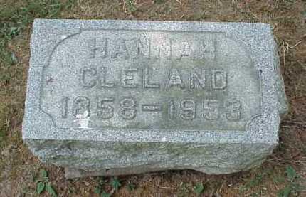 CLELAND, HANNAH - Meigs County, Ohio   HANNAH CLELAND - Ohio Gravestone Photos