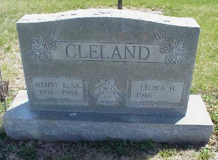 CLELAND, HENRY E. SR. - Meigs County, Ohio   HENRY E. SR. CLELAND - Ohio Gravestone Photos