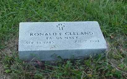 CLELAND, RONALD E. - Meigs County, Ohio   RONALD E. CLELAND - Ohio Gravestone Photos