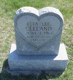 CLELAND, RETA LEE - Meigs County, Ohio   RETA LEE CLELAND - Ohio Gravestone Photos
