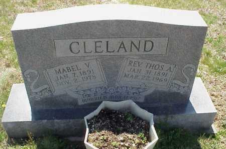 CLELAND, REV. THOMAS A. - Meigs County, Ohio   REV. THOMAS A. CLELAND - Ohio Gravestone Photos