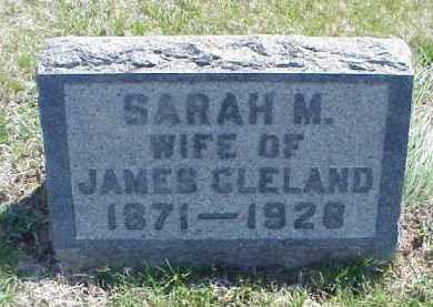 CLELAND, SARAH M. - Meigs County, Ohio   SARAH M. CLELAND - Ohio Gravestone Photos