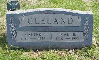 CLELAND, WALTER - Meigs County, Ohio | WALTER CLELAND - Ohio Gravestone Photos