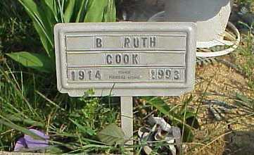 WOODYARD COOK, B. RUTH - Meigs County, Ohio   B. RUTH WOODYARD COOK - Ohio Gravestone Photos