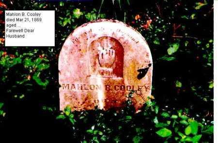 COOLEY, MAHLON B. - Meigs County, Ohio | MAHLON B. COOLEY - Ohio Gravestone Photos
