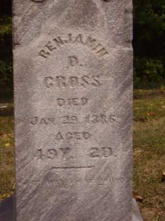 CROSS, BENJAMIN D. -  CLOSEVIEW - Meigs County, Ohio | BENJAMIN D. -  CLOSEVIEW CROSS - Ohio Gravestone Photos