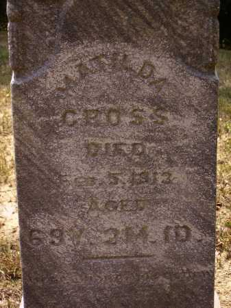 CROSS, MATILDA - Meigs County, Ohio | MATILDA CROSS - Ohio Gravestone Photos