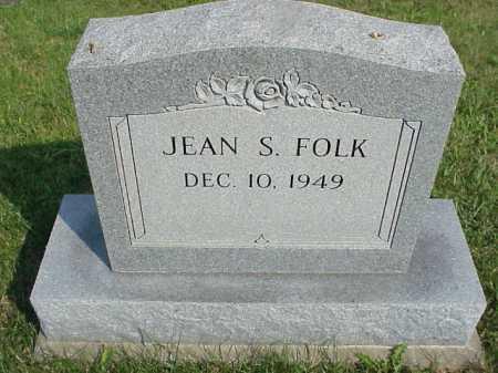 FOLK, JEAN S. - Meigs County, Ohio | JEAN S. FOLK - Ohio Gravestone Photos