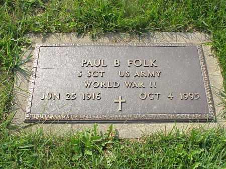 FOLK, PAUL B. - Meigs County, Ohio | PAUL B. FOLK - Ohio Gravestone Photos