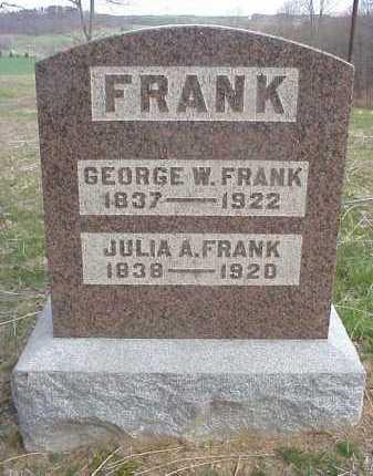 FRANK, JULIA A. - Meigs County, Ohio | JULIA A. FRANK - Ohio Gravestone Photos