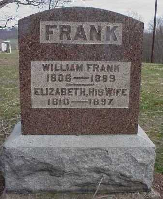 FRANK, WILLIAM - Meigs County, Ohio   WILLIAM FRANK - Ohio Gravestone Photos