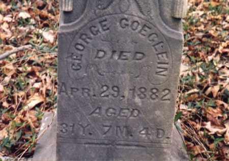 GOEGLEIN, GEORGE - Meigs County, Ohio | GEORGE GOEGLEIN - Ohio Gravestone Photos