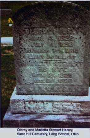 STEWART HALSEY, MARIETTA - Meigs County, Ohio | MARIETTA STEWART HALSEY - Ohio Gravestone Photos