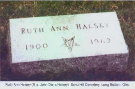 HALSEY, RUTH ANN - Meigs County, Ohio | RUTH ANN HALSEY - Ohio Gravestone Photos