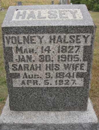 HALSEY, SARAH - Meigs County, Ohio | SARAH HALSEY - Ohio Gravestone Photos