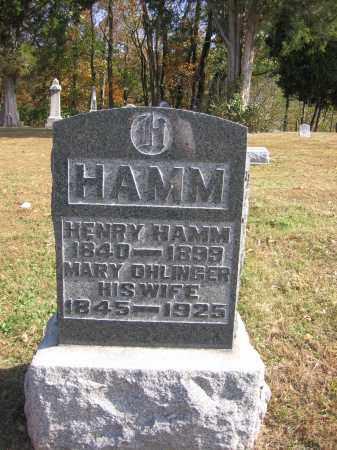 HAMM, MARY - Meigs County, Ohio | MARY HAMM - Ohio Gravestone Photos