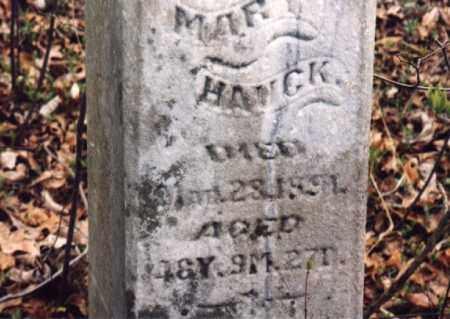 HAUCK, MARY - Meigs County, Ohio | MARY HAUCK - Ohio Gravestone Photos