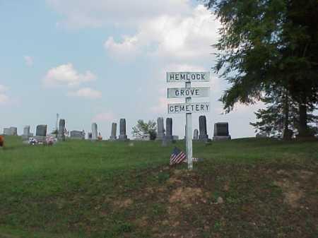 HEMLOCK GROVE, CEMETERY - VIEW 2 - Meigs County, Ohio   CEMETERY - VIEW 2 HEMLOCK GROVE - Ohio Gravestone Photos