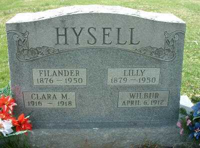 HYSELL, WILBUR - Meigs County, Ohio | WILBUR HYSELL - Ohio Gravestone Photos