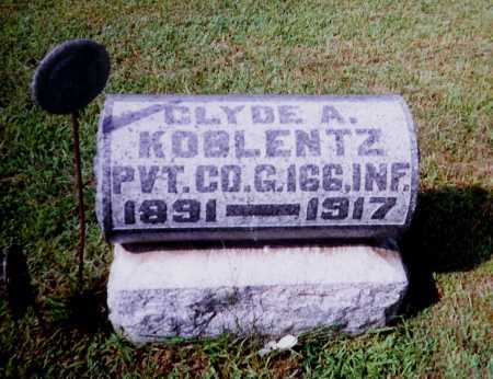 KOBLENTZ, CLYDE A. - Meigs County, Ohio | CLYDE A. KOBLENTZ - Ohio Gravestone Photos