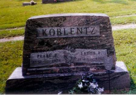 KOBLENTZ, PEARL F. - Meigs County, Ohio | PEARL F. KOBLENTZ - Ohio Gravestone Photos