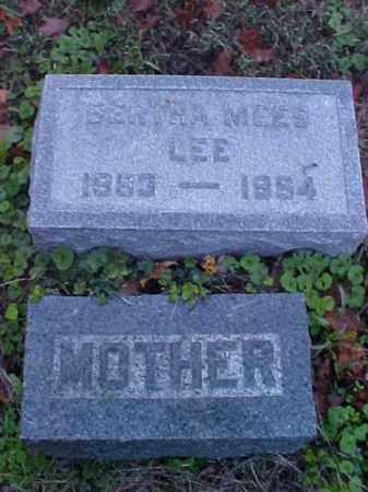 LEE, BERTHA - Meigs County, Ohio   BERTHA LEE - Ohio Gravestone Photos