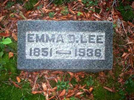 LEE, EMMA D. - Meigs County, Ohio | EMMA D. LEE - Ohio Gravestone Photos