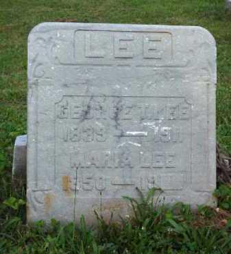 LEE, MARIA - Meigs County, Ohio   MARIA LEE - Ohio Gravestone Photos