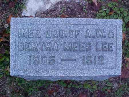 LEE, INEZ - Meigs County, Ohio   INEZ LEE - Ohio Gravestone Photos