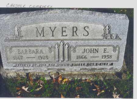 MYERS, BARBARA - Meigs County, Ohio | BARBARA MYERS - Ohio Gravestone Photos