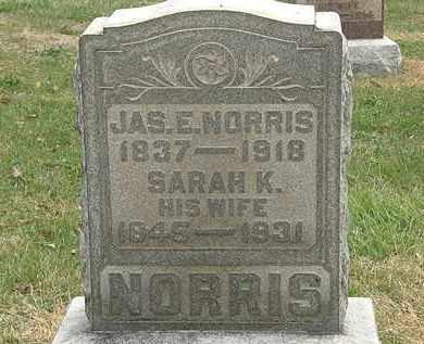 NORRIS, SARAH K. - Meigs County, Ohio | SARAH K. NORRIS - Ohio Gravestone Photos