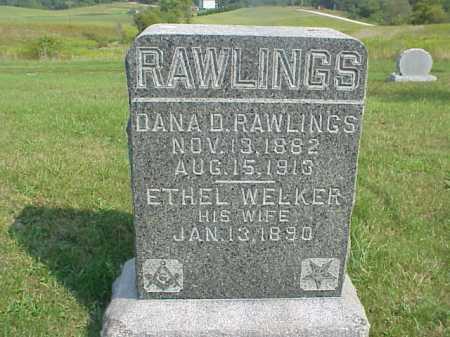WELKER RAWLINGS, ETHEL - Meigs County, Ohio | ETHEL WELKER RAWLINGS - Ohio Gravestone Photos