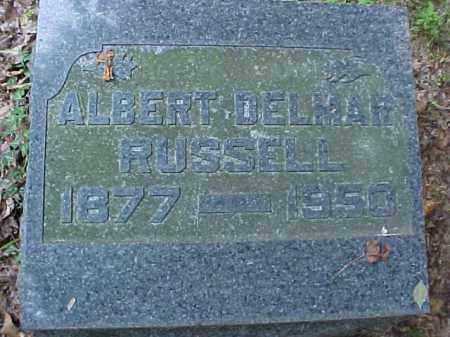 RUSSELL, ALBERT DELMAR - Meigs County, Ohio | ALBERT DELMAR RUSSELL - Ohio Gravestone Photos