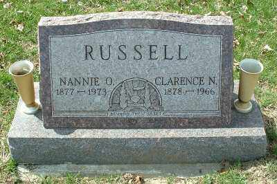 RUSSELL, NANNIE O. - Meigs County, Ohio | NANNIE O. RUSSELL - Ohio Gravestone Photos