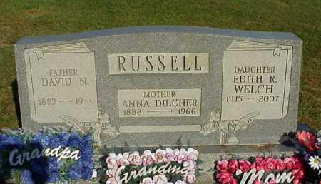 RUSSELL, ANNA - Meigs County, Ohio | ANNA RUSSELL - Ohio Gravestone Photos